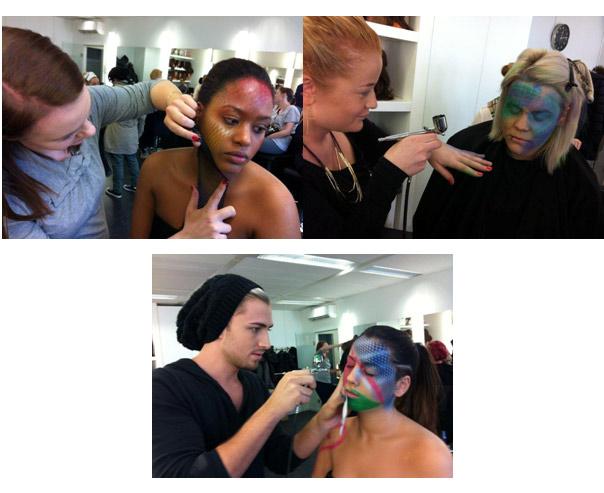 Kurs zu Bodypainting und Airbrush an der Visagistenschule Famous Face Academy in Frankfurt