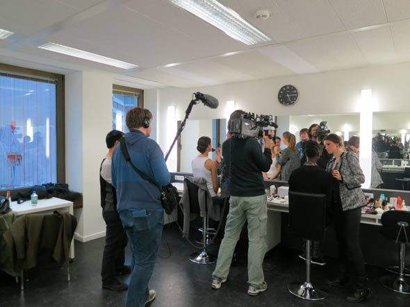 Topmodels Eva Padberg und Franziska Knuppe an der Famous Face Academy